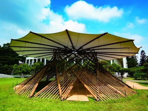 Mobile Bamboo Exhibition Pavilion
